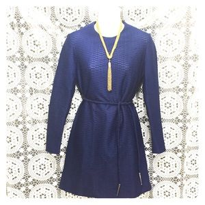 Vintage 60s mini dress S/M dark blue